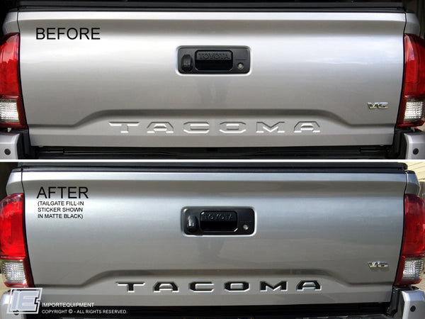 Toyota Tacoma Tailgate Letter Inserts Fill-in Decal 2016 +