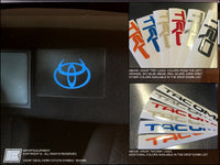Toyota Tacoma VISOR Overlay Decal - Fits 2016