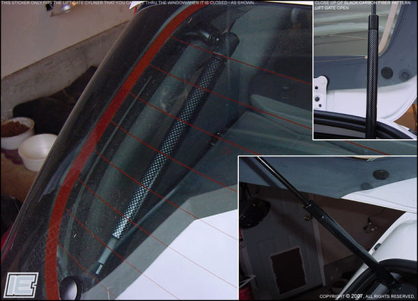 Lift Gate Cylinder Decals / Stickers - Gen 1 Toyota Matrix