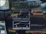Wagon Mafia Sticker w/ 03-08 Toyota Matrix above the text