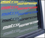 Matrixowners.com Decal (v2) - fits Toyota Matrix 2003+