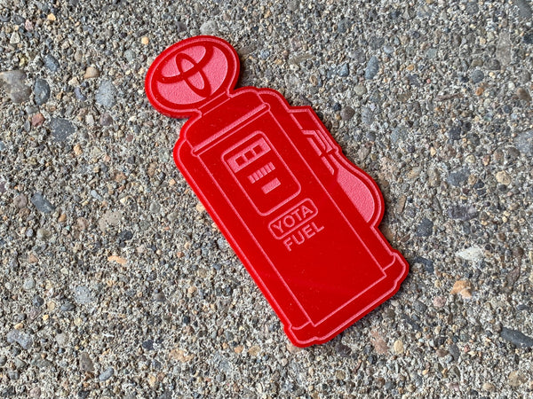 Yota Fuel - Red Acrylic Patch  (full size)