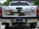 Tribal & Skulls - Large Tailgate Style Decal