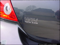 "VVT-i Twin Cam Decals (Small, Outlined - 3""W x 1.047""H)"
