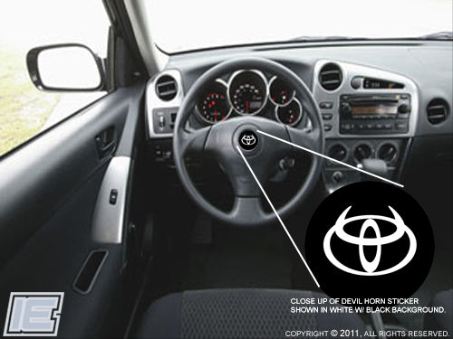2017 Toyota 4runner >> Steering Wheel Decal - fits Toyota Matrix 2003-08, Your ...