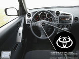 Steering Wheel Decal - fits Toyota Matrix 2003-08, Your choice of logo