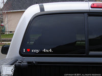 "I Love My... Your choice of ""Taco"", ""Toy"", or ""4x4"" Sticker"