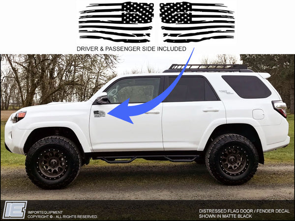 Distressed American Flag Decal - Toyota 4Runner Tacoma FJ Sequoia Tundra