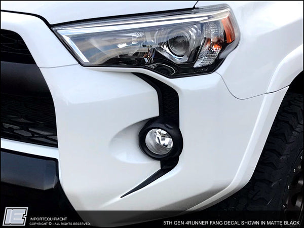 4Runner Front Bumper Fang Decals - 5th Gen Toyota 4Runner 2014 - 2019