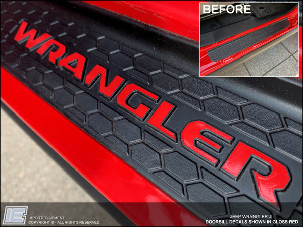 Doorsill Decals - Jeep Wrangler JL - Fits 2018 - 2019 Door Sills