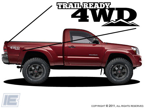 Trail Ready 4wd - Bedside Decals