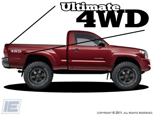 Ultimate 4wd - Bedside Decals