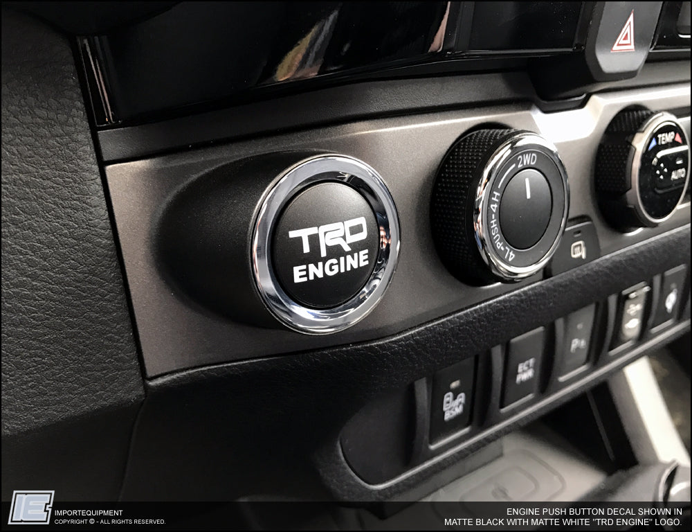 Tundra Trd Pro >> Toyota Tacoma Engine Push Button Decal Sticker 2016 ...