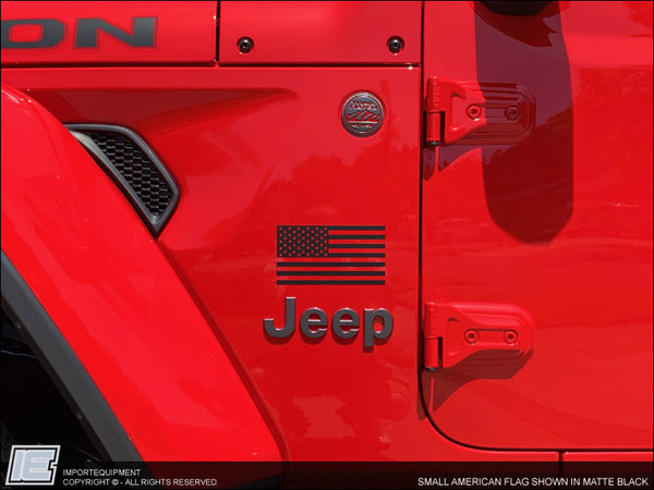 American Flag Decal - Jeep Wrangler Compass Cherokee Renegade Gladiator