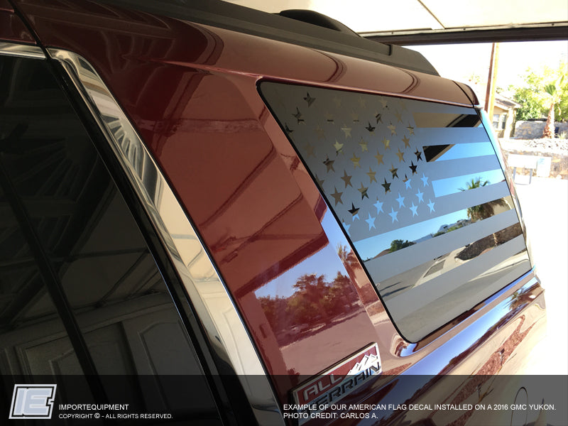 Custom American Flag Side Window Decals Choose Your Size
