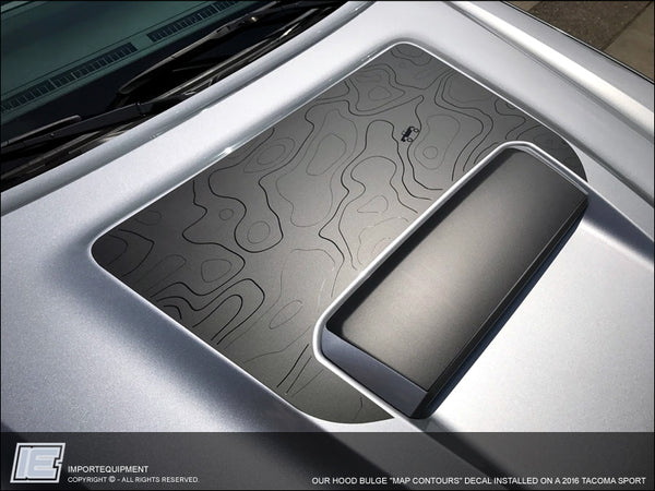 Toyota Tacoma Hood Bulge decal & Topo Contour Map decal Fits 2016+