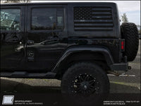 Jeep Wrangler JK American Flag Side Window Decal - Fits 2007 - 2018 JK & JKU