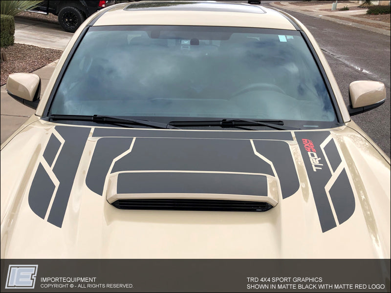 2015 Jeep Wrangler Sport >> Toyota Tacoma TRD Hood Graphics Only, Choose PRO, 4x4 Off ...