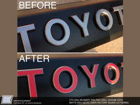 4Runner PRO Grill TOYOTA Lettering Decal - 5th Gen Toyota 4Runner 2014-2021