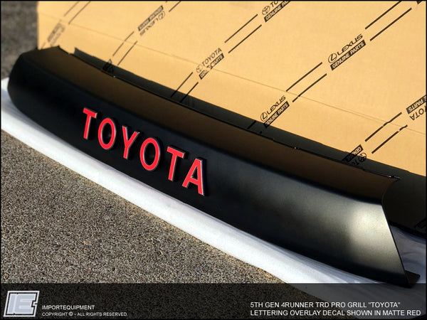 4Runner PRO Grille TOYOTA Lettering Decal - 5th Gen Toyota 4Runner 2014-2021
