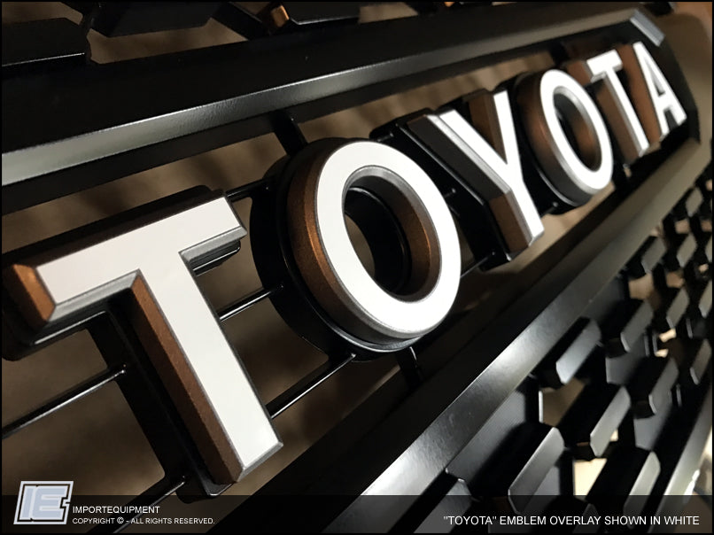 "Toyota Celica 2016 >> Toyota Tacoma TRD PRO Grill ""Toyota"" Emblem Decal 2016 + – IMPORTequipment"
