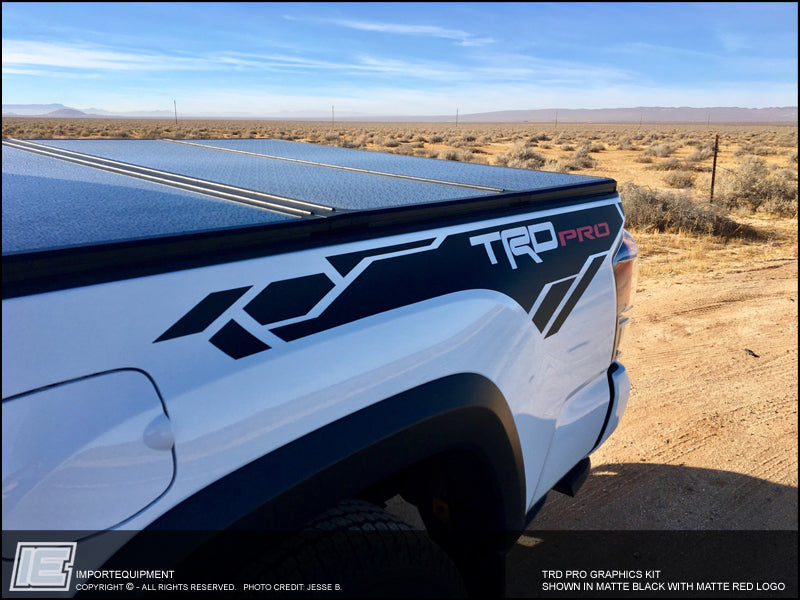Trd Pro Decal Kit X on 2016 Toyota Tundra Trd Off Road