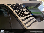 Toyota 4Runner C-Pillar Distressed American Flag Decal - Fits 2010 - 2021 5th Gen