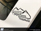 4Runner C-Pillar Mountain decals - Fits 5th Gen 2010 - 2021
