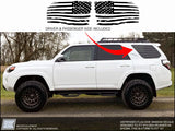 Toyota 4Runner DISTRESSED American Flag Side Window Decal - Fits 2010 - 2021 5th Gen