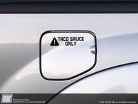 Toyota Tacoma TACO SAUCE ONLY Decal Sticker