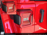 Jeep Wrangler Unlimited JLU Backup Light Overlay Decal fits 2018 2019