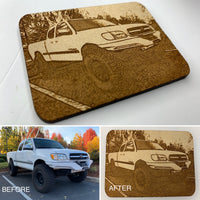 Custom Portrait Wood Patch - made from your photo