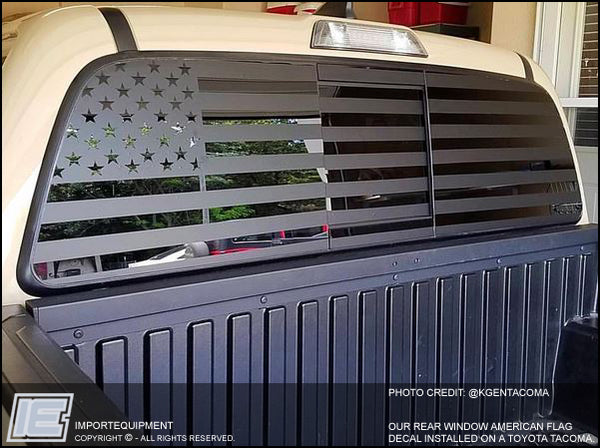 Custom american flag rear window decal choose your size
