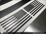 Jeep Wrangler JL Unlimited American Flag Side Window Decal - Fits 2018 - 2019 JLU