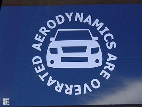 Round Honda Element Aerodynamics Are Overrated Decal Sticker