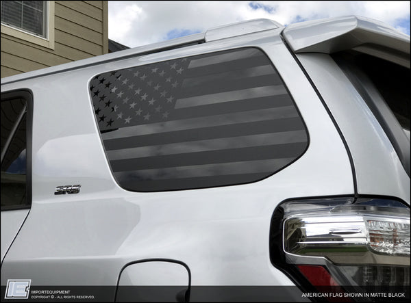 Toyota 4Runner American Flag Side Window Decal - Fits 2010 - 2021 5th Gen