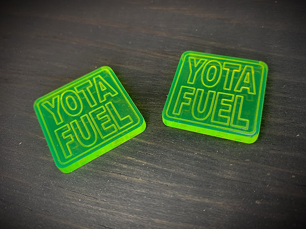 Fuel Text - SQUARE TOXIC GREEN Ranger Eye Patch (sold in pairs)