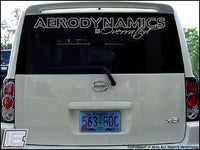 Aerodynamics Is Overrated Front or Rear Windshield Decal Sticker