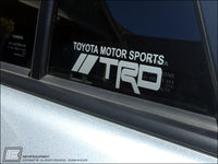 1x4 Toyota Motor Sports //TRD Sticker Decal 1-color