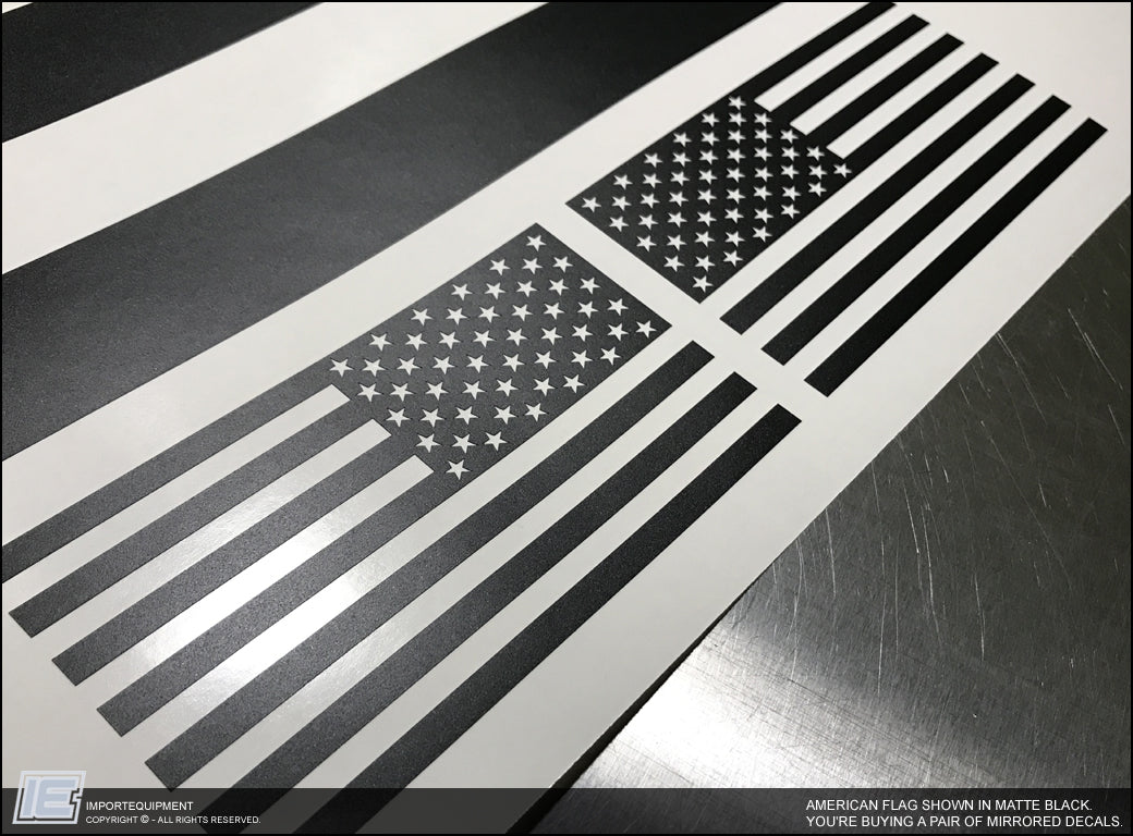 Toyota 4runner American Flag Side Window Decal Fits 2010