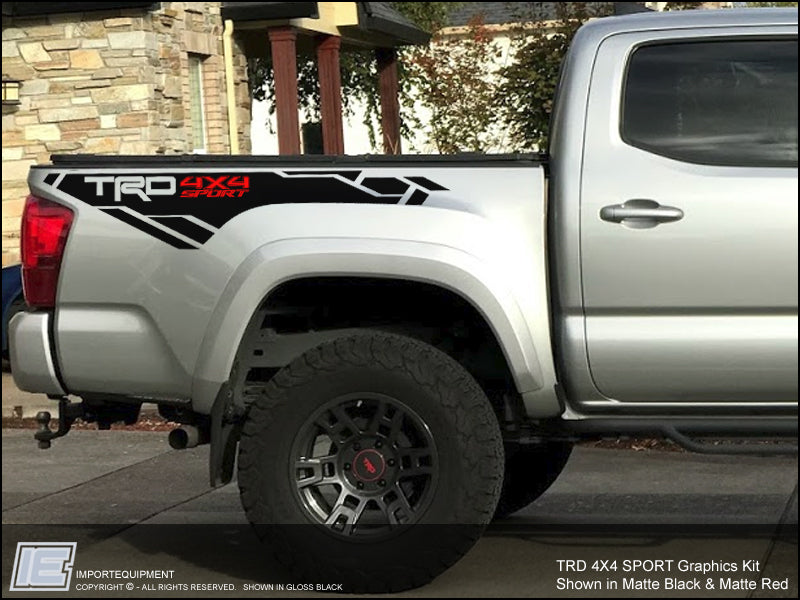 Toyota Tacoma TRD 4x4 Sport Graphics Kit - Fits 2016 2017 ...