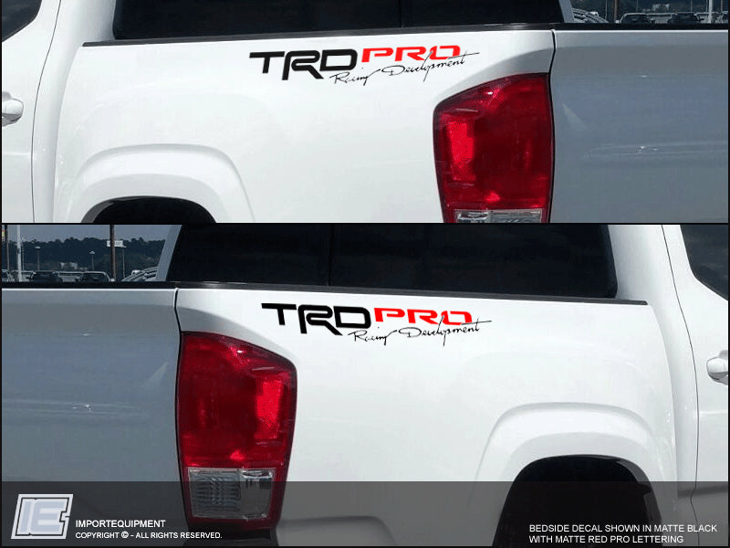 Fj Cruiser 2017 >> Toyota Tacoma TRD PRO Bedside Decal (1-pair) 2016 2017 2018 two-color – IMPORTequipment