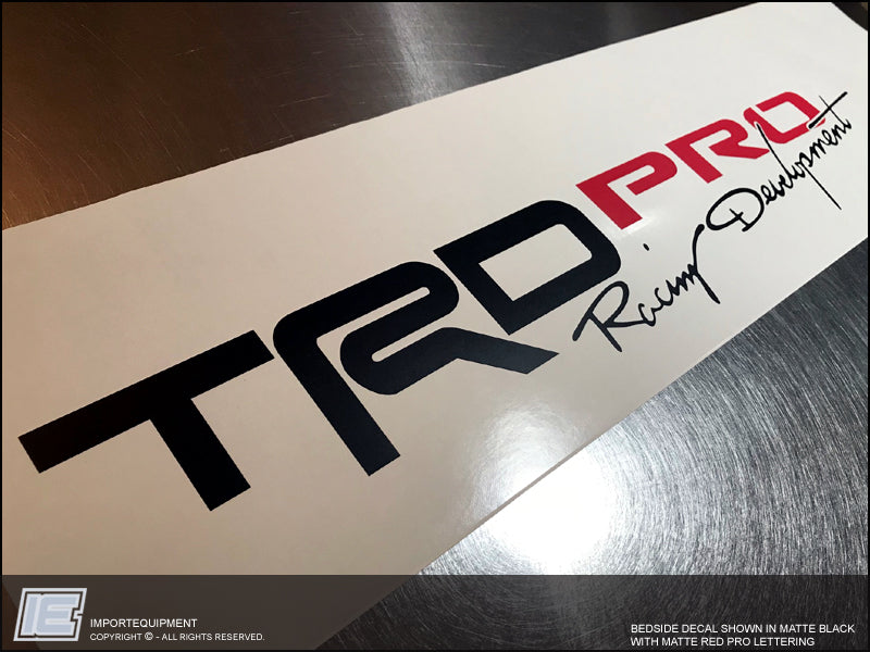 Toyota Tacoma Colors >> Toyota Tacoma TRD PRO Bedside Decal (1-pair) 2016 2017 2018 two-color – IMPORTequipment