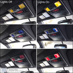 Dome Light Overlays (decals) - Toyota Tacoma 2016 2017 2018 +