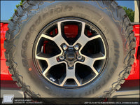 1941 Jeep Silhouette Rubicon Wheel Decal Sticker - Designed Jeep Wrangler JL Rubicon Wheels