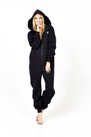 Sofa Killer all black onesie with a zipper in the back