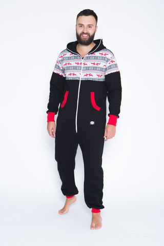 Sofa Killer black onesie with Nordic applications