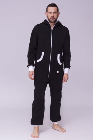 Sofa Killer black onesie with white cuff