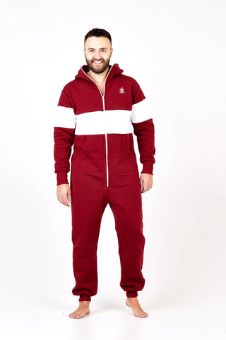 Sofa Killer burgundy onesie with white line Riga
