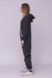 Sofa Killer dark grey onesie with light grey cuff